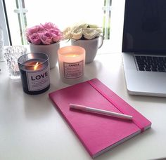 candles + notebooks