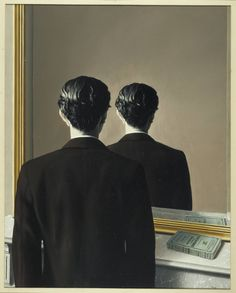 magritte la reproduction interdite - Google Search