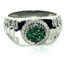 Mens Genuine Emerald Ring .75 carats Size 11   http://stores.ebay.com/JEWELRY-AND-GIFTS-BY-ALICE-AND-ANN