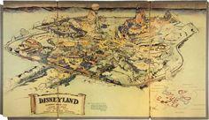 Original presentation map of Disneyland that was created by Walt Disney and Herb Ryman in 1953