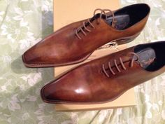 New-Stefano-Branchini-HAND-MADE-IN-ITALY-Shoes-LACE-UP-size-13-US-EU-12