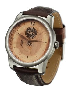 A Tree Ring watch with Celtic knot logo for Franklin-Christoph company