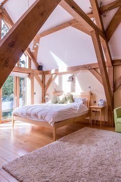 The current master bedroom 2015 The Woodhouse, Oak Framed Buildings, Build Your Own, Barns, Master Bedroom, House Ideas, House Design, Scrapbook, Homes