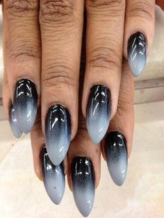 "Photo of Ct Nails - ""Stiletto nails"" - West Hollywood, CA Hair And Nails, My Nails, Gothic Nail Art, Punk Nails, Black Ombre Nails, Leopard Nails, Best Acrylic Nails, Super Nails, Stiletto Nails"