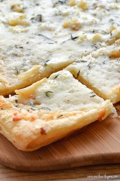 Roasted Garlic Puff Pastry Flatbread