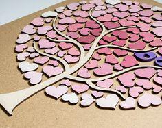3D Hochzeit Gast Buch alternative Holz Custom von HAPPYprojectSHOP