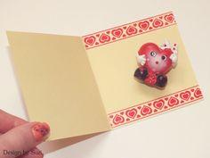 Design by Suzi: Gombíkové srdce Heart Cards, Be My Valentine, Button, Tags, Design, Mailing Labels, Buttons, Knot