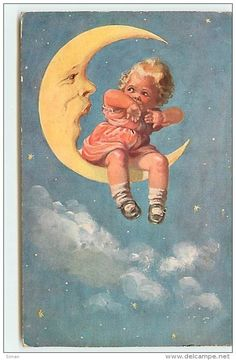 N°6064 - Wally Fialkowska - Enfant Et Lune N°3 - Illustrateurs & Photographes
