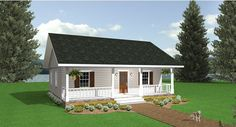 Cozy Retreat House Plan - 5634     864 sq ft.  Add stairs to the basement in the great room and a firelplace.  Perfect!