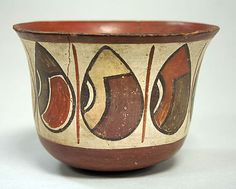 Painted Bowl with Beans. Peru. Nasca. 1st - 6th century.