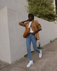 Skinny Jeans Heels, Jeans With Heels, Jeans And Sneakers, Blazer Outfits, Jean Outfits, Cool Outfits, 90s Inspired Outfits, Long Sweater Coat, Fall Jeans