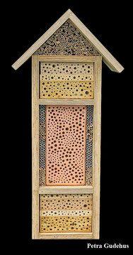Insektennisthilfe Insektenhotel Nisthilfe Hartholz Bohrungen Holzklotz