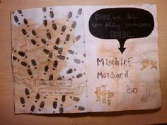 drip your coffee here - wreck this journal marauders map , harry potter #djurdjaswreckthisjournal