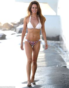 Simply stunning: Brooke certainly has one of the most enviable celebrity bikini bodies