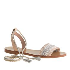raffia ankle tie sandals / j.crew
