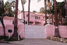 Jayne Mansfield's Pink Palace.. She also had a pink bathroom. Beverly Hils