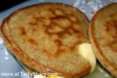 Apple Cider Pancakes for one...1 egg, 1/4 cup almond meal, sprinkle of cinnamon, splash of apple cider vinegar