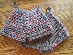 Crochet Potholder Panty and Shorts by CraftierSide on Etsy