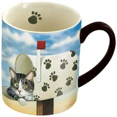 LANG Toulouse Largent Mug, 14-Ounce >> Additional details at the pin image, click it  : Cat mug