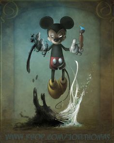 Creepy Kingdom – Graffiti World Disney Horror, Evil Disney, Horror Art, Epic Mickey, Disney Mickey, Mickey Mouse Art, Twisted Disney, Dark Fantasy Art, Graffiti Art