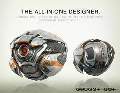 Gadget-Bot Picture (3d, sci-fi, bot, robot)