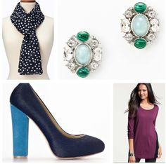 Accessorize with complimentary hues as well as same tones and exact color matches.