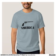 AMERICA (GUN) Revolver T-Shirt