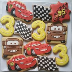 homemade fancy cookies and chocolate for your occassion: Disney cars cookies