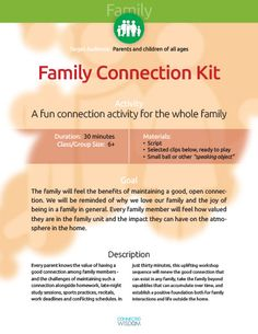 A fun connection activity for the whole family #ConnectionGames #Jewish