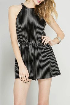 006d0c80f36 She + Sky Sleeveless Striped Romper - Front Cropped Image Crop Image
