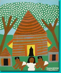 Another Amos Ferguson, Mother and Twin Babies, 1992