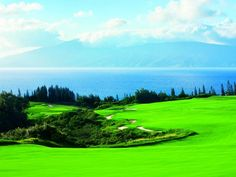 Golf in the middle of tropical paradise at Kapalua Resort in Maui