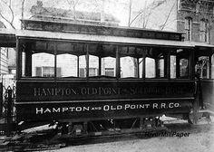Newport News Old Point Railway Trolly Car Hampton VA photo