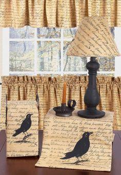 "Black Crow Table Runner 14"" x 36"""