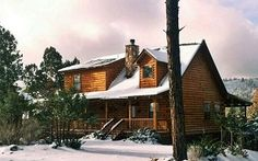 The Dances With Bears cabin in Ruidoso, New Mexico. Stayed here for my 40th, it was wonderful.