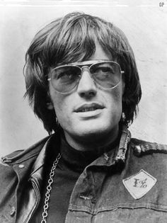 "Peter Fonda-we have the same birthdate, February 23rd! Groovy pic-from ""Easy Rider"" perhaps?"