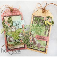 Heartfelt Creations - Monkeying Around Gift Tags Project