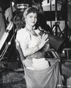 Shirley Temple on the set of The Bachelor and the Bobby-Soxer (1947)