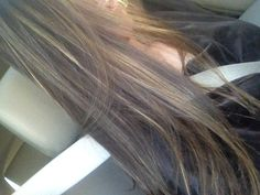 Light brown hair with caramel  and honey highlights