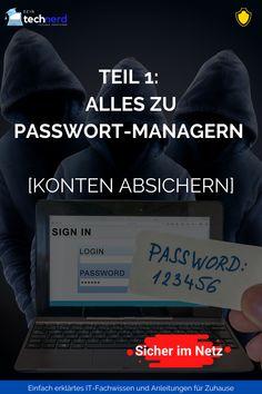In diesem Artikel erfährst du:  Was ein Passwort Manager ist und warum du unbedingt einen Passwort Manager verwenden solltest. Wie du herausfindest ob dein Passwort oder deine Accounts jetzt schon gefährdet sind. Welchen Passwort-Manager du bedenkenlos verwenden kannst und solltest. Vor welchen Passwortmanagern du die Finger lassen solltest      #sicher #onlinesicherheit #passwörter #tipps #tricks It Wissen, Der Computer, Finger, Blog, Technology, Tips And Tricks, Tutorials, Mesh