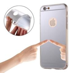 Silver Grippy Mirror iPhone 6 & Case comes with a Free Screen Protector, Free Splash Resistant Beach Bag and Free Delivery in Australia Cases Iphone 6, Iphone 5s, Protective Cases, 6s Plus, Screen Protector, Mirror, Silver, Amp, Products