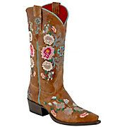 Anderson Bean® Macie Bean™ Ladies Brown Mad Cat Floral Embroidered Snip Toe Boots from Cavendar's Boot City.