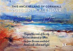 Art Calendar 2018 - Artist Steve Slimm in Collaboration with Cornwall Living Magazine Art Calendar, Calendar 2018, Living Magazine, One Image, Colour Images, Expressionism, Cornwall, Collaboration, Campaign