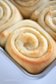 The BEST orange sweet rolls on iheartnaptime.net ...these are super soft and melt in your mouth!
