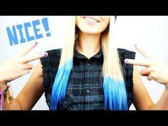 Haare blau färben mit Krepppapier - für 2€! | DIY | Hair Tutorial #Bonnytrash (German)