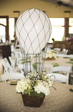 Wedding Venue an and Party Decoration ideas, using balloons. Make your own and DIY Wedding Decor ideas. Rustic, elegant, table centrepiece and outdoor decorations Unique Wedding Centerpieces, Wedding Balloon Decorations, Romantic Wedding Decor, Wedding Balloons, Flower Centerpieces, Trendy Wedding, Unique Weddings, Diy Wedding, Wedding Flowers