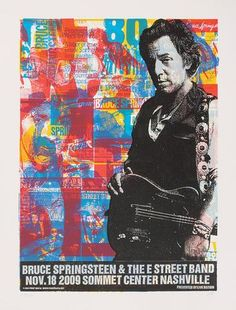Bruce Springsteen - Nashville 2009 - Mini Print