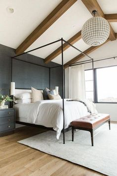 Home Remodel Bedroom Modern Bedroom Design Ideas for a Dreamy Master Suite - jane at home.Home Remodel Bedroom Modern Bedroom Design Ideas for a Dreamy Master Suite - jane at home Navy Master Bedroom, Master Bedroom Design, Home Decor Bedroom, Girls Bedroom, Bedroom Ideas, Bedroom Designs, Diy Bedroom, Bedroom Black, Masculine Master Bedroom