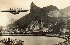 Dornier's DO-X roars out of Rio de Janeiro. A cruising speed just above 100mph turns any trip into a journey.