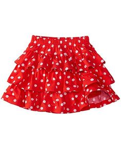 Girls Three Tiers Scooter Skirt from #HannaAndersson.